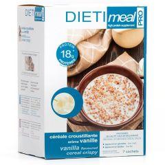 Dietimeal céréales croustillantes vanille riche en protéines 7 sachets