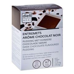 Dessert entremets au chocolat noir riche en protéines