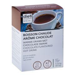 Boisson chaude au chocolat riche en protéines
