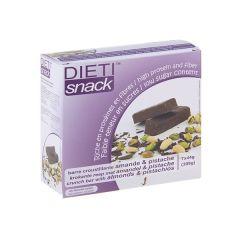 Barre amande pistache chocolat riche en protéines Dietisnack