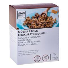 Müesli chocolat caramel riche en protéines