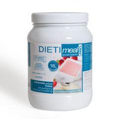 Dessert fraise hyperprotéiné Dietimeal en Pot avec 450 g de poudre à reconstituer.