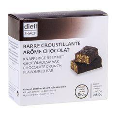 barre hyperprotéinée saveur chocolat croustillant Dietisnack chocolat crunch