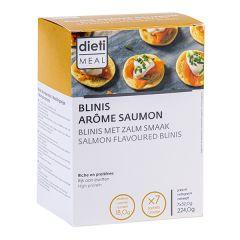 Blinis arôme saumon riche en protéines - Dietisnack 7 sachets