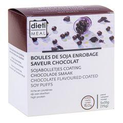 Boules de soja enrobage chocolat, riches en protéines. Dietimeal x 7 sachets