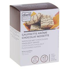 Gaufrette hyperprotéinée arôme chocolat noisette Dietisnack.
