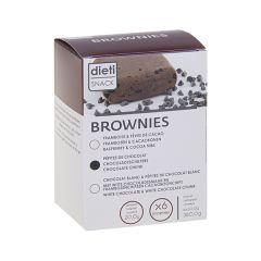 Brownie aux pépites de chocolat riche en protéines, sans huile de palme.