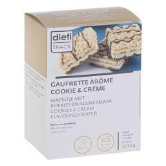Gaufrette arôme Cookie & cream riche en protéines (5 x 41,1g)