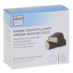 Barre croustillante arôme noix de coco riche en protéines, sans huile de palme.