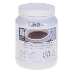 Préparation pour boisson chaude arôme chocolat riche en protéines. Pot 450 g