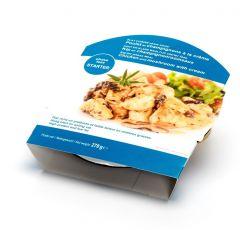 Plat cuisiné riche en protéines poulet champignon pour régime keto