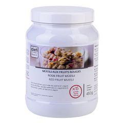 Müesli arôme fruits rouges riche en protéines en pot de 450g Dietisnack
