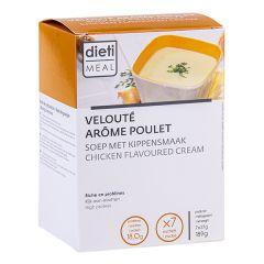 Velouté arôme poulet riche en protéines. 7 sachets Dietimeal